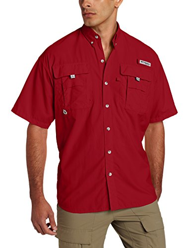 Columbia Sportswear Men's Bahama II Short Sleeve Shirt, Beet, Medium