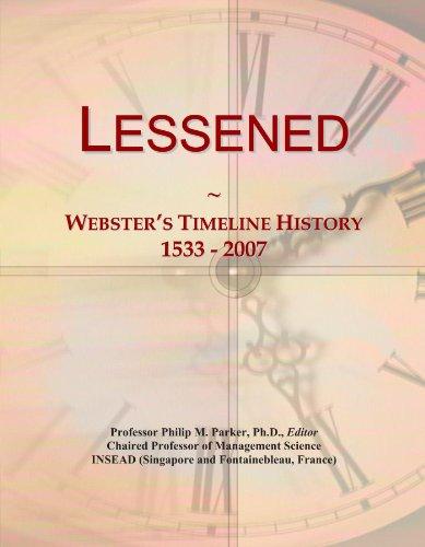 Lessened: Webster's Timeline History, 1533 - 2007