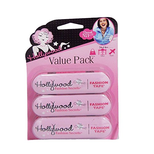 Hollywood Fashion Secrets 36 Piece Fashion Tape Tin Value Pack, 3 Count