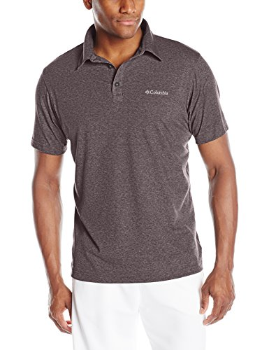 Columbia Men's Thistletown Park Polo Ii, New Cinder Heather, Large