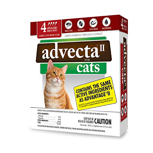 Advecta II Flea Treatment for Cats over 9 lbs,  4 Month Supply