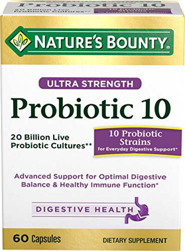 Nature's Bounty Ultra Probiotic 10, 60 Capsules