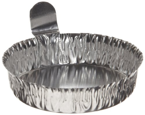 Heathrow Scientific HD14521C Aluminum Large Weighing Boat, 70mm Diameter x 16mm Height (Pack of 100)