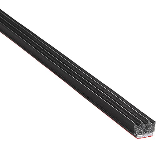 Trim-Lok Rubber Seal EPDM Closed Cell Sponge Rubber with BT (3M) High Strength Tape System, Rectangle (Ribbed), Height 0.187 inch, Width 0.375 inch, Length 25 feet