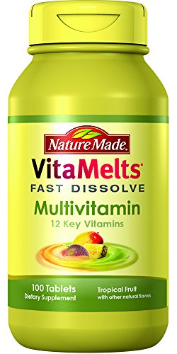 Nature Made Vitamelts Multivitamin Tablets, Tropical Fruit, 100 Count