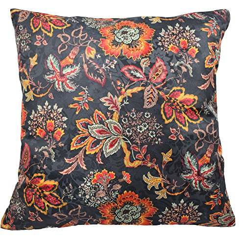 Traditions by Waverly Navarra Floral Decorative Pillow Set (2 Pack), Onyx