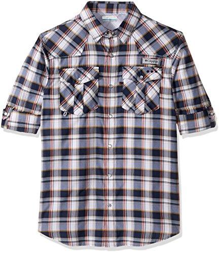 Columbia Sportswear Men's Beadhead Long Sleeve Shirt, Collegiate Navy Check, Large