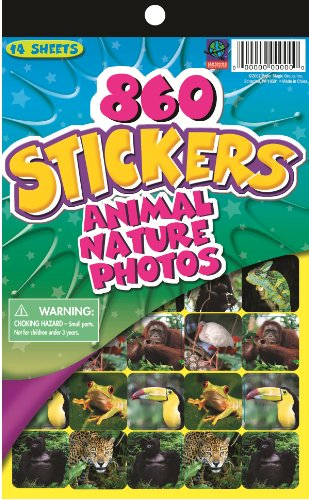 Eureka Stickerbook - Animal/Nature Photos Learning Playground Sticker Book