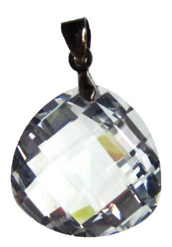 Bead Collection 41271 Cubic Zirconia Crystal Teardrop Pendant, 20mm