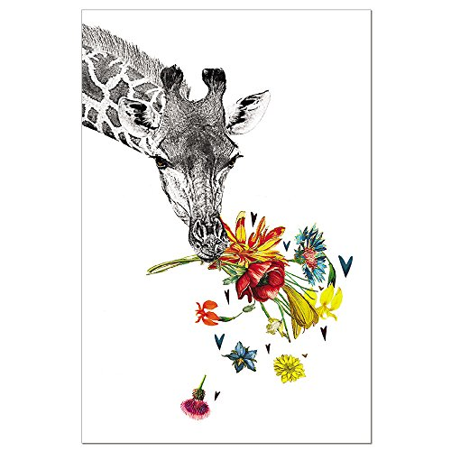 Tree-Free Greetings EcoNotes 12-Count Checking in Giraffe Blank Notecard Set With Envelopes, All Occasion, For Animal Lovers, (FS56865)