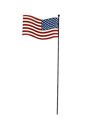 Attraction Design Metal Rustic Flagpole American Glory Stake-Flying Flag