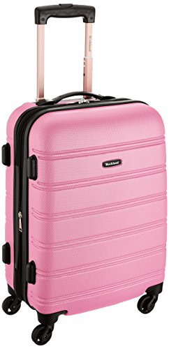 Rockland Luggage Melbourne 20 Inch Expandable Abs Carry On Luggage, Pink, One Size